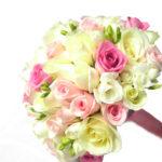 свадебный нежный букет из роз