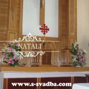 украшение костела,венчание