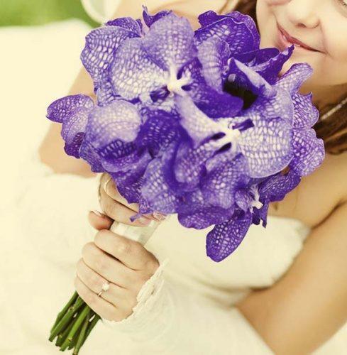 свадебный букет из орхидей Ванда