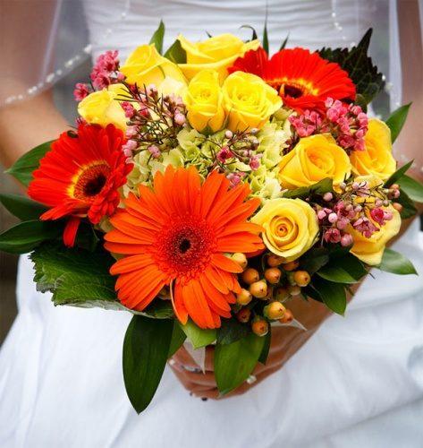 букет невесты летний, яркий