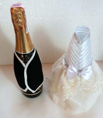 Одежки на бутылку шампанского жених и невеста