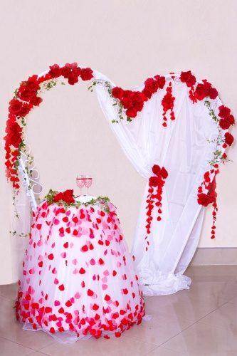 Свадебная арка в форме сердца форме сердца