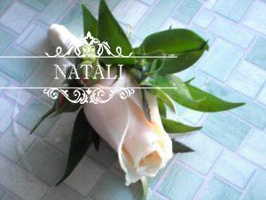 нежная бутоньерка с розой