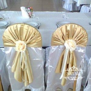 украшение стульев на свадьбу