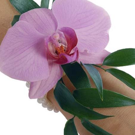 браслет на руку с орхидеи