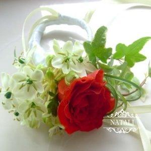 цветочный браслет для подружек невесты