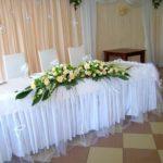 Украшение свадебного стола в ресторане