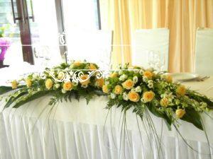 украшение свадебного зала в ресторане