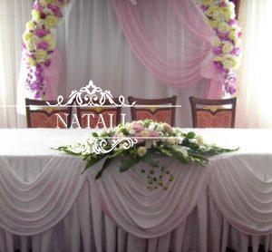 Украшение на свадебный стол молодоженов