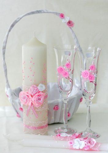 Свадебные наборы в розовом цвете