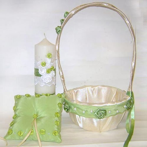 Свадебные аксессуары в оливковом цвете