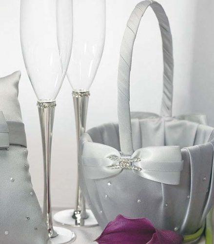 Свадебный комплект аксессуаров в сером цвете