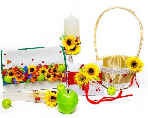 Свадебный набор аксессуаров в украинском стиле