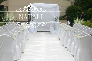 Прокат белоснежных свадебных чехлов
