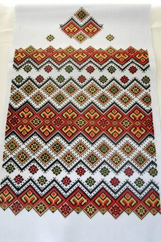 Свадебный рушник с орнаментом под каравай