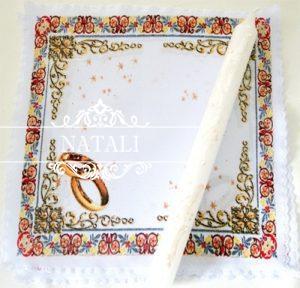 Салфетка под свадебные свечи