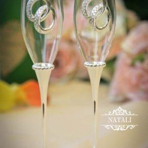 Свадебные бокалы КОЛЬЦА
