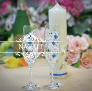 Свадебные бокалы с декором