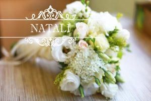 """свадебный букет невесты нежность""""- гортензия и эустома"""