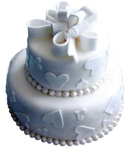свадебный торт белоснежный