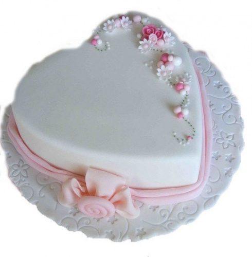 свадебный торт нежное сердечко