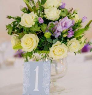 Цветы на стол молодоженам