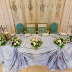 Свадебное оформление стола молодоженов стола молодоженов