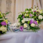 свадебные композиции на стол молодоженов