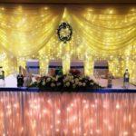 прокат скатертей и юбок на свадебные столы