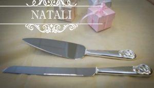 Нож и лопатка для свадебного торта, обручальные кольца