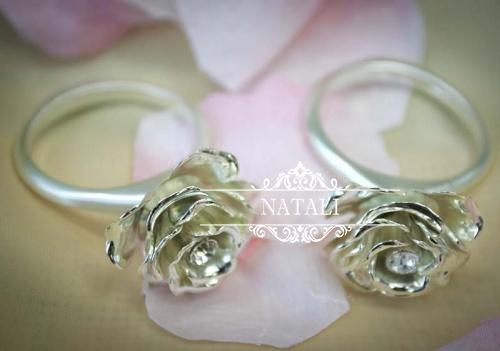 Кольца РОЗОЧКИ для свадебных салфеток