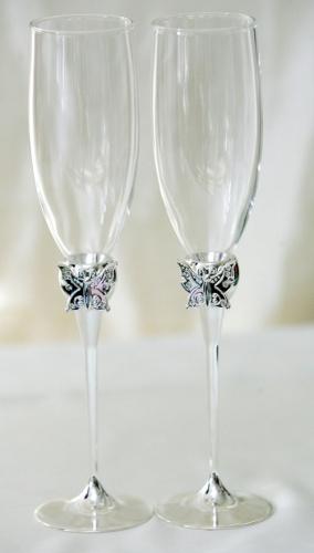 Свадебные бокалы БАБОЧКИ