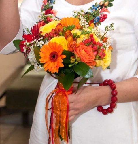 Букет невесты в украинском стиле