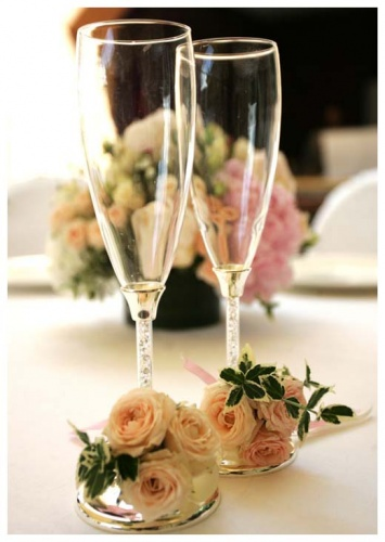 Свадебные бокалы Кристалы