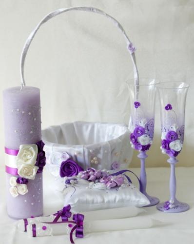 Свадебный набор в фиолетовом цвете