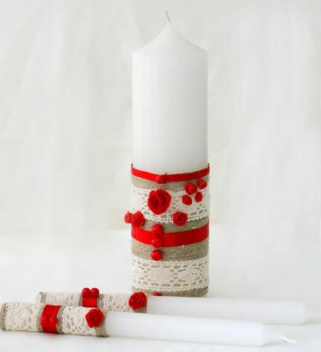 свадебные свечи в этностиле