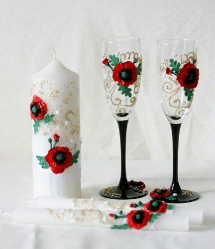 свадебные свечи в украинском стиле