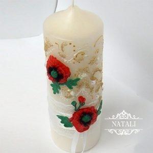 свадебная свеча макм в украинском стиле