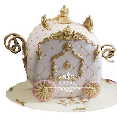 """Свадебный сказочный торт """"Карета"""""""