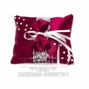 бордовая подушка для колец