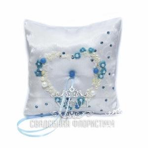 подушка для колец бирюзовая