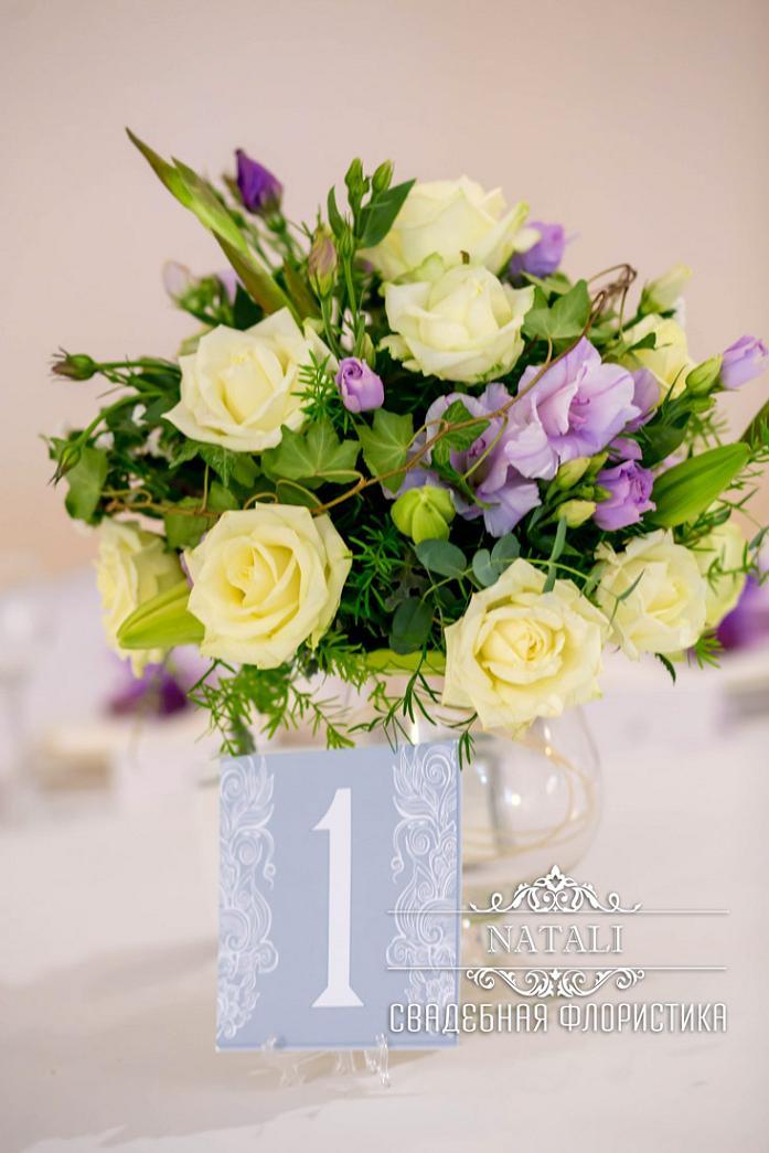 цветочная композиция на стол