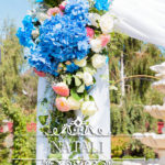 арка из живых цветов
