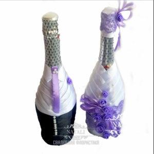 Одежда на свадебное шампанское с фиолетовыми элементами