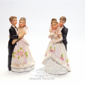 Фигурки на торт жениха и невесты 12см