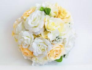 шар из искусственных цветов подвесной
