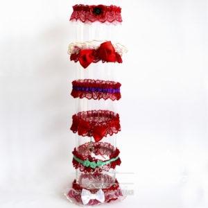 Свадебные подвязки в красном цвете для невесты