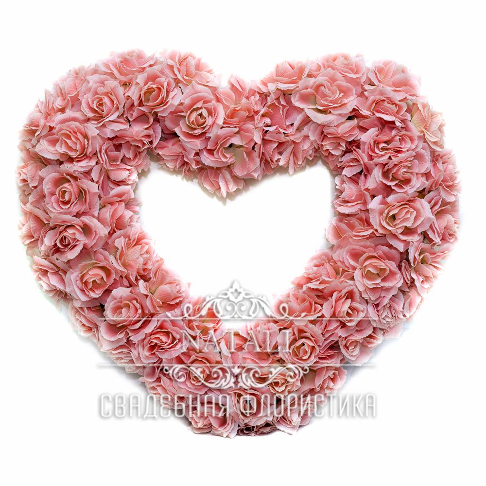 Розовое сердце+2 бутоньерки