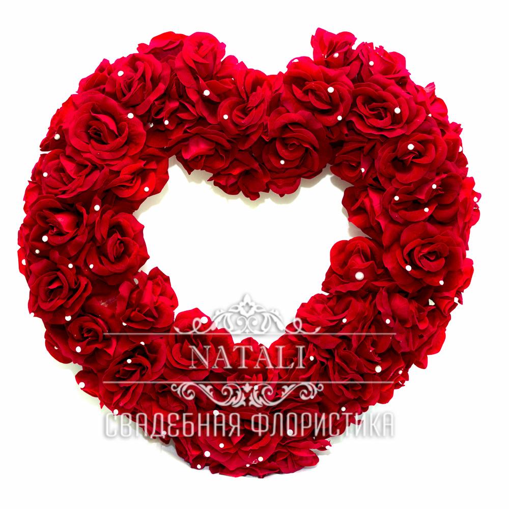 Красное сердце+2 бутоньерки