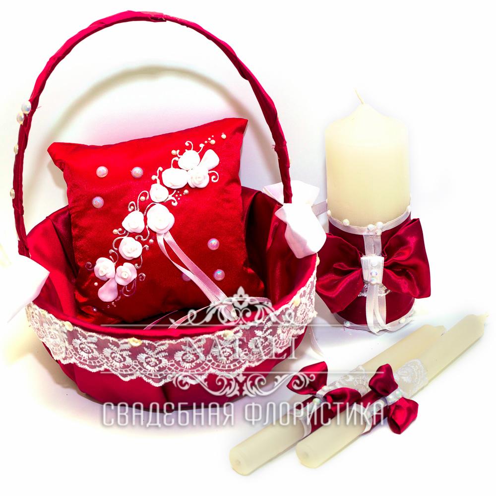 Свадебный набор цвета марсала